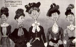 caricatura sufraguistas
